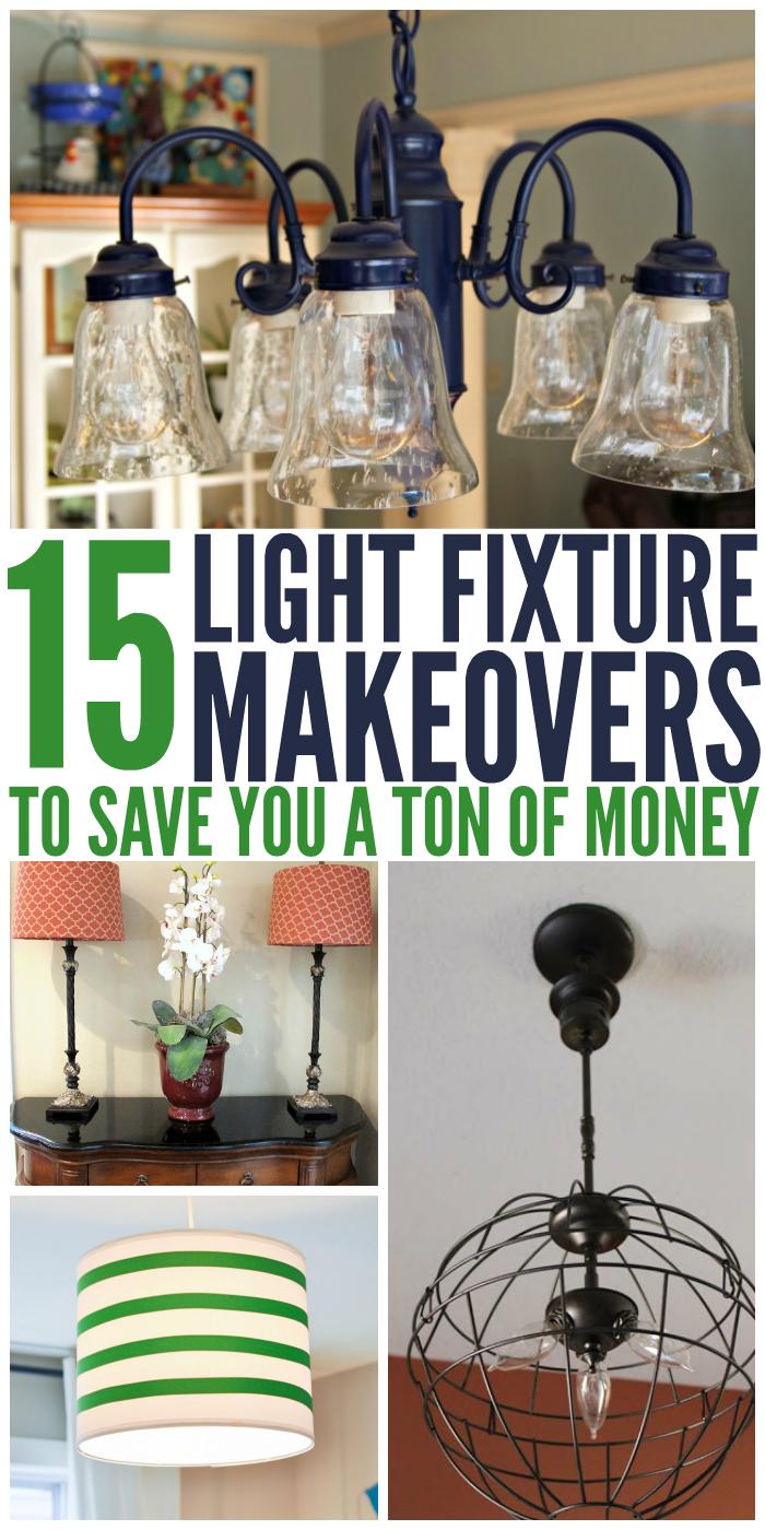 15 Light Fixture Makeovers To Save You A Ton Of Money Cheap Light Fixtures Painting Light Fixtures Diy Light Fixtures