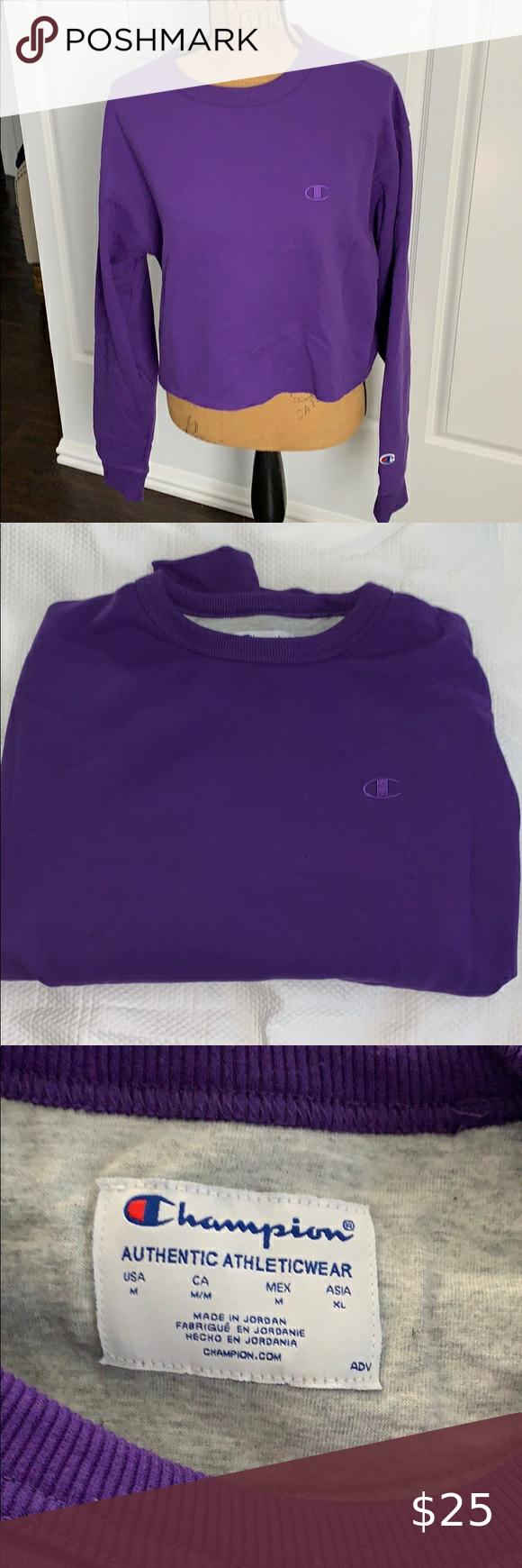 Champion Crop Sweatshirt Athletic Wear Sweatshirts Crop Sweatshirt Champion Cropped Sweatshirt [ 1740 x 580 Pixel ]