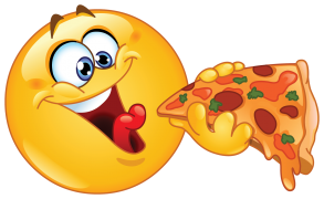 Eating Pizza Emoticons Sticker Emoticons Emojis Smiley Smiley Emoji