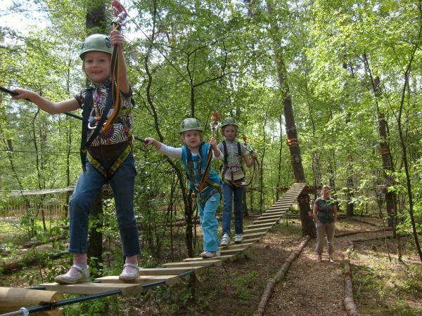 one of our eco forest and children climbing low ropes. Black Bedroom Furniture Sets. Home Design Ideas