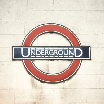 Street Sign Home Decor Stunning Underground  5X5 Fine Art Photograph  Home Decor London Metro Design Decoration