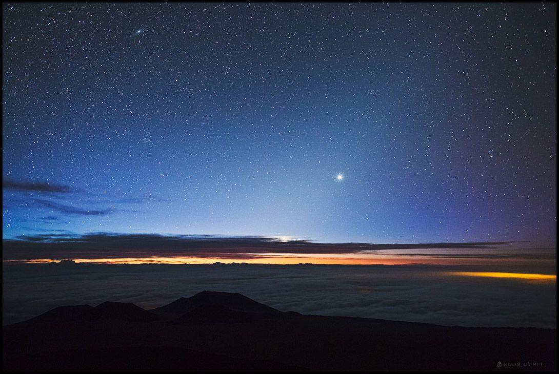 Venus From The Top Of Hawaii By Kwon O Chul Twan Venus Hawaii Andromeda Galaxy