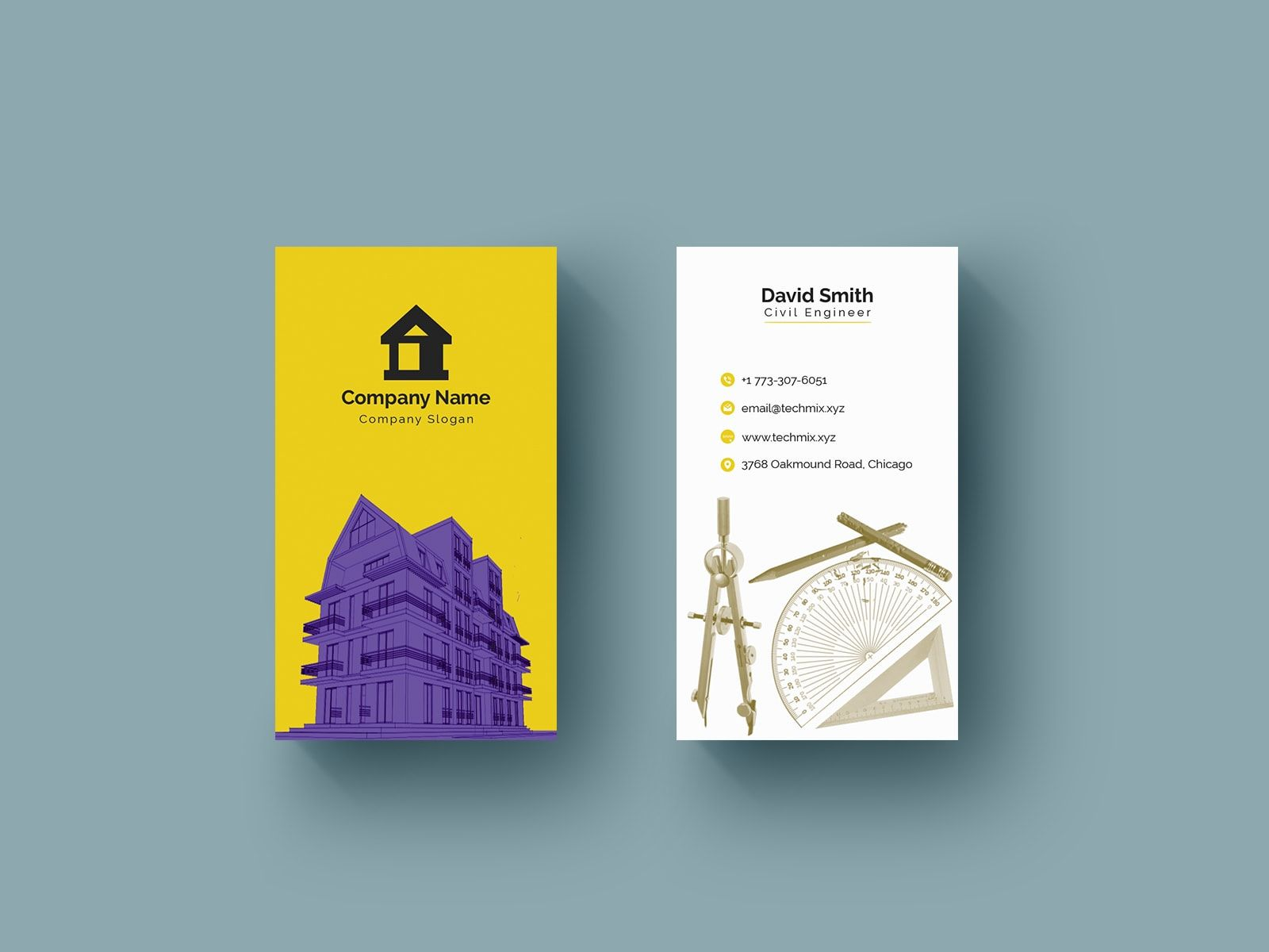 Civil Engineer Business Card Template Business Cards Creative Templates Business Cards Creative Business Card Design Creative
