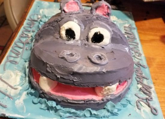 How To Make An Easy Hippo Birthday Cake