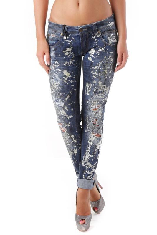 Jeans Donna Sexy Woman (VI-J2909) colore Blu Scuro  394ee231cd