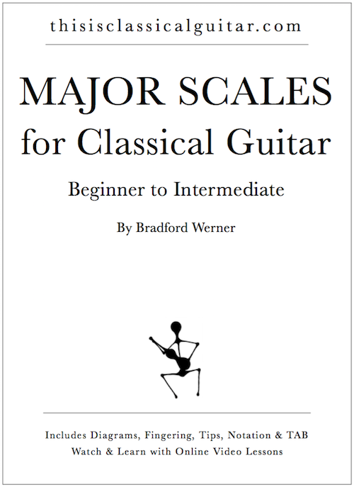 A Pdf Ebook Of Major Scales For Classical Guitar For Beginners And