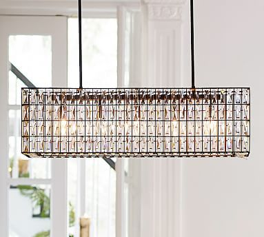 Adeline Crystal Rectangular Chandelier Rectangular Chandelier