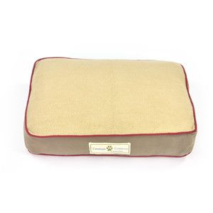 Sherpa Top Ticking Pet Bed Tan now featured on Fab.