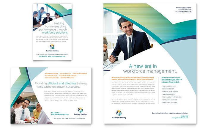 business training flyer and ad design template by