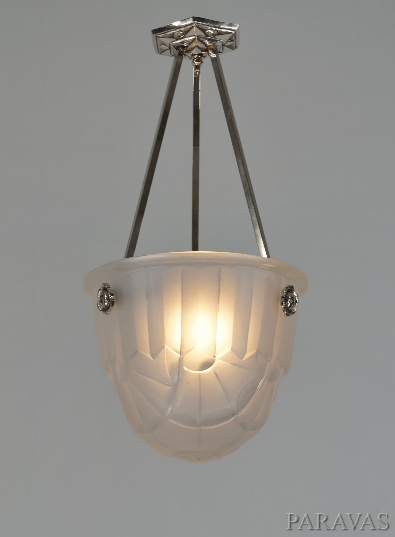 Ceiling Lights Francis Hubens Degue French 1930 Art Deco Chandelier Paravas Ebay