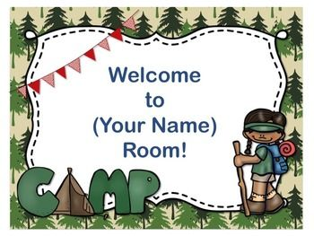 Camping theme open house back to school powerpoint template i love this camping themed open house power point makes the back to school night toneelgroepblik Gallery