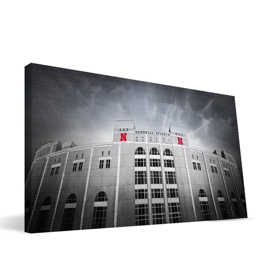 Nebraska Cornhuskers Memorial Stadium Canvas Print
