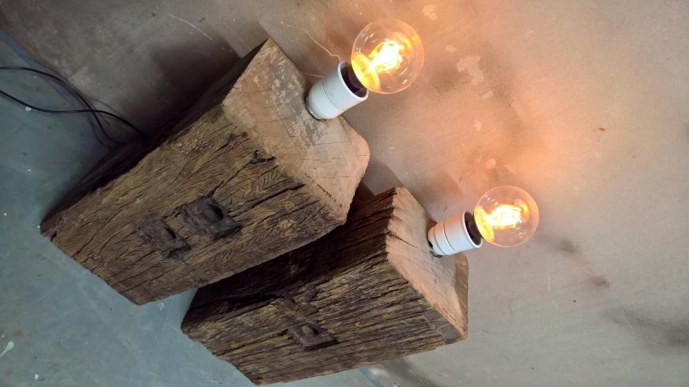 Robuuste Meerpaal lampen: Industriele verlichting: Hout ...