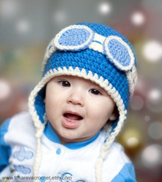 Crochet Pattern Baby Aviator Earflap Crochet Hat Winter Hat Earflaps Crochet  Pilot Hat Funny Hat Gla e9cc9560ea9