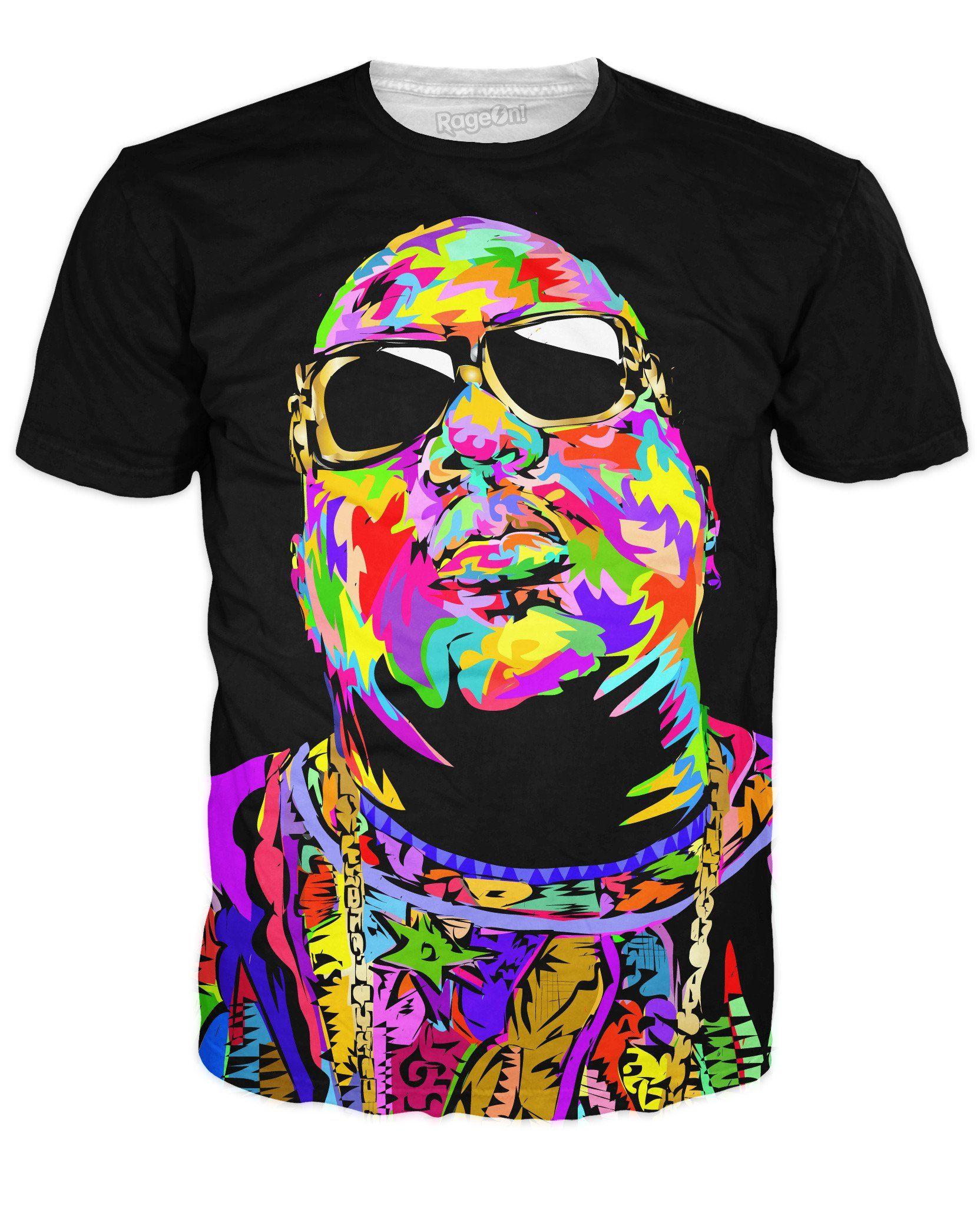 d779a45b Sick Biggie Notorious BIG B.I.G. Tee Shirt T-Shirt All Over Print Hip Hop  Rap