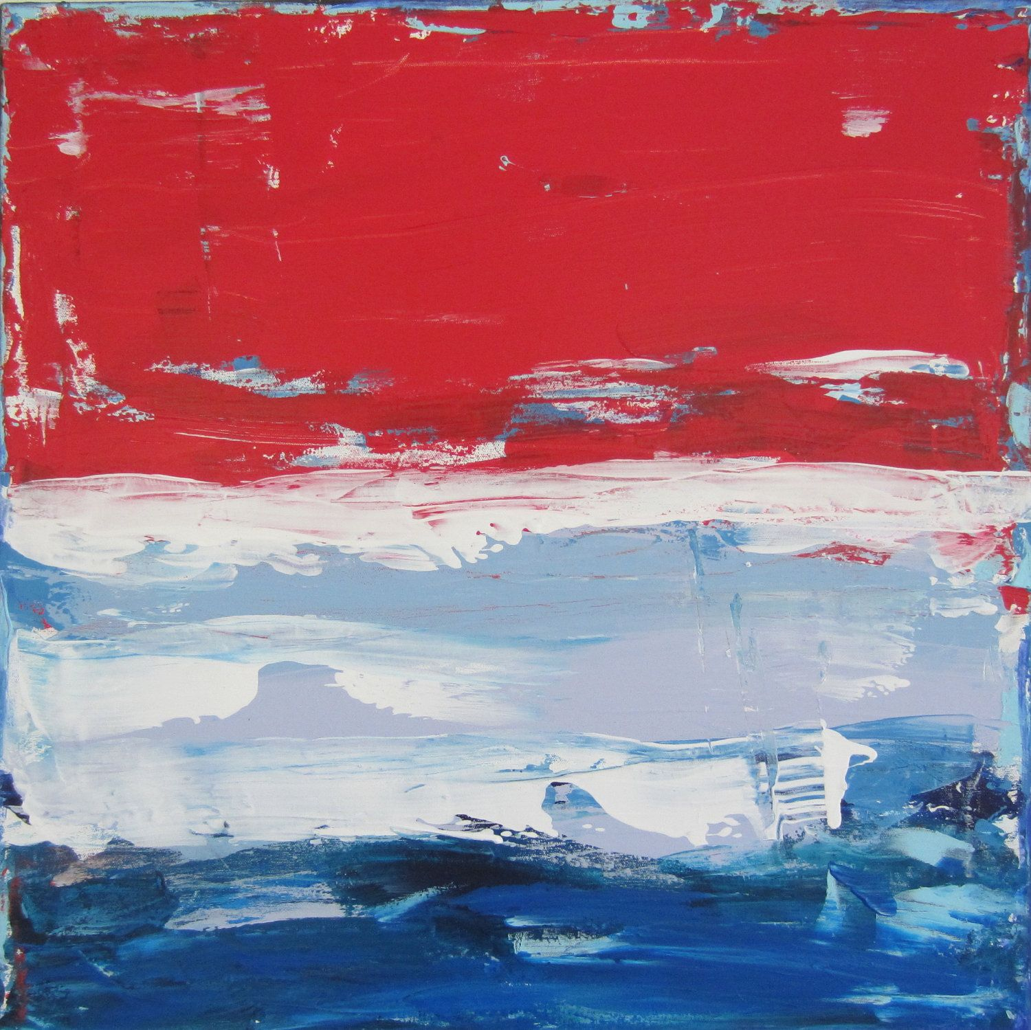 Red White And Blue Paintings Google Search
