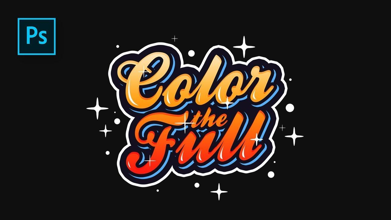 How to Create Colorful Text Effect in
