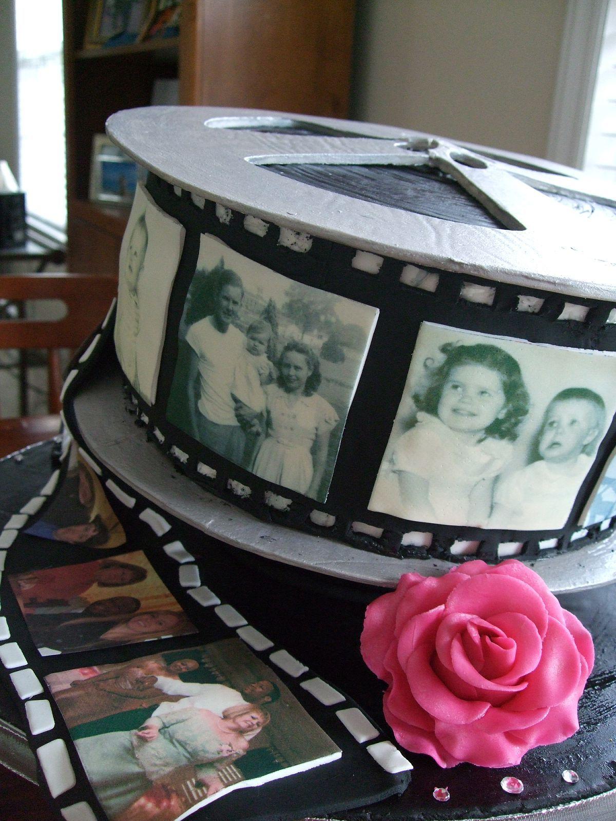 Film strip birthday cake party ideas pinterest birthday cakes