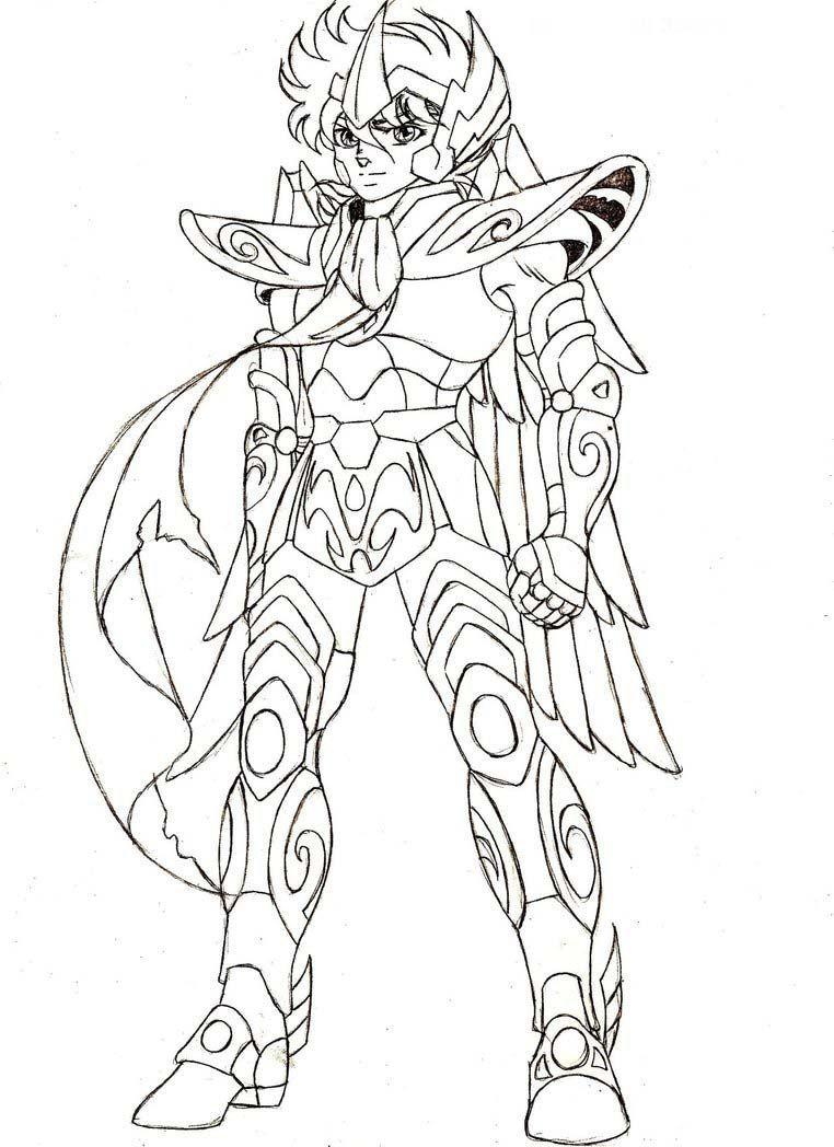 Cavaleiros Do Zodiaco Para Colorir E Imprimir Desenhos Desenhos