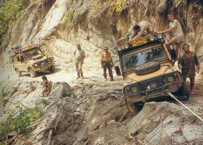 Camel Trophy Land Rover 110s on Trophy 88 Sulawesi
