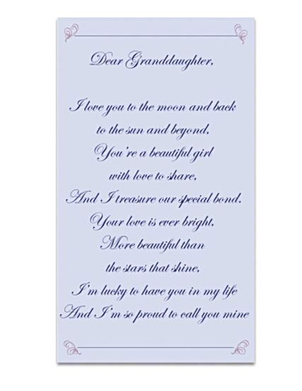Love My Granddaughter Poems | It features a loving sentiment that