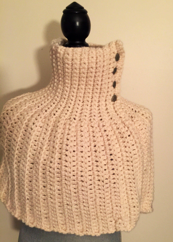Chunky Crochet Caplet Infinity Scarf - Fisherman | Chunky crochet ...