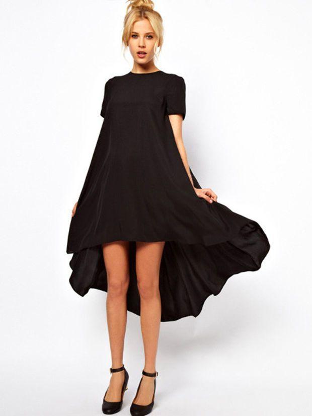Short Sleeve Dovetail Ruffled Midi Dress
