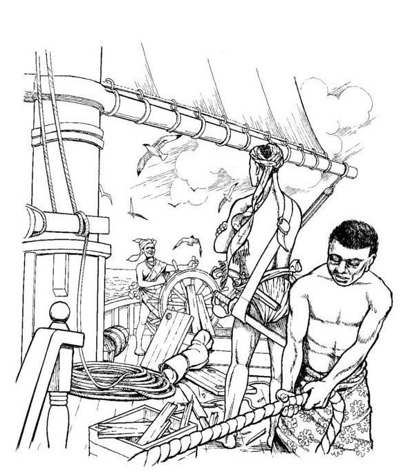 Kids-n-Fun Coloring Slavery Revolt on the Amistad The slaves have - fresh dltk birds coloring pages