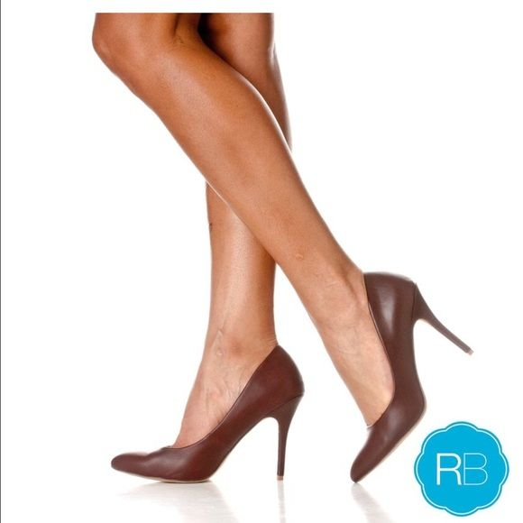 """Brown Pumps Brand new with box! Shaft measures approximately 2.75 from arch Materials: Manmade Heels Measure Approximately 4.25"""" Pumps for women are a timeless classic High-Heels are a must throughout the year Riverberry Shoes Heels"""