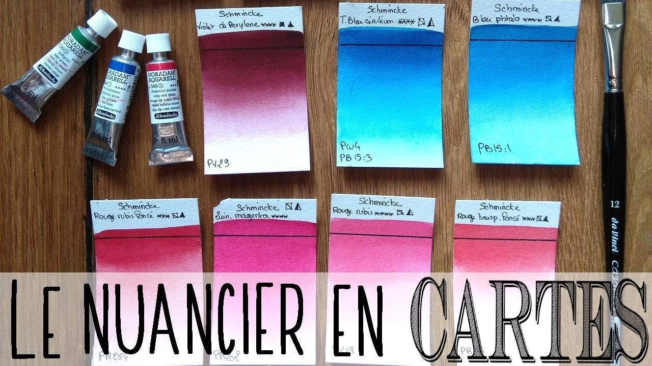 Faire Des Cartes Nuancier A L Aquarelle Nuancier Comment