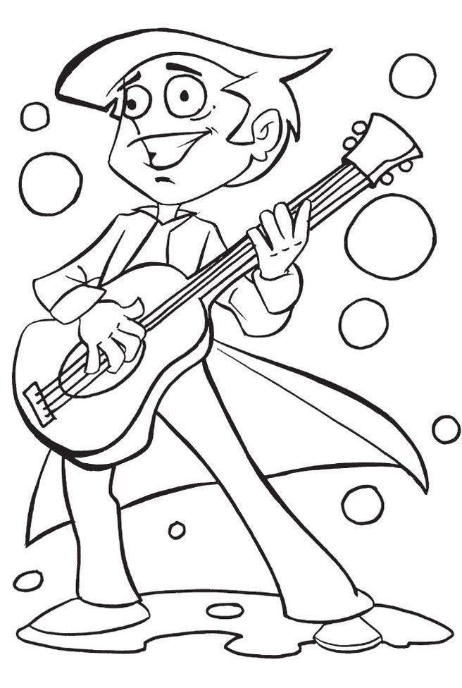 printable coloring pages guitar - photo#42