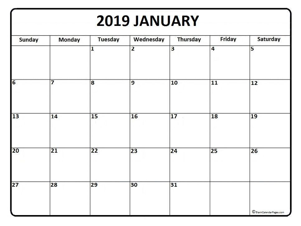 January 2019 Calendar New Zealand Printable With Images