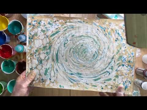 252) ( 420 ) Q&A paper marbling and what you need to mix paint ...