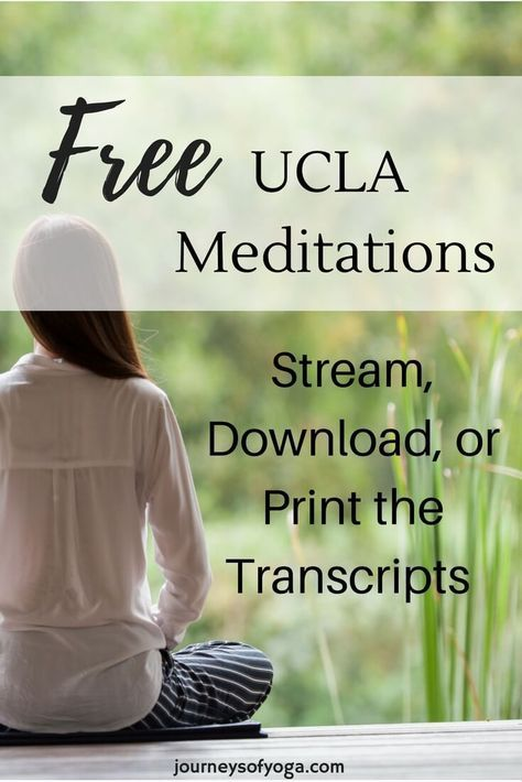 Free UCLA Mindfulness Meditations | Buddhist Wisdom ॐ