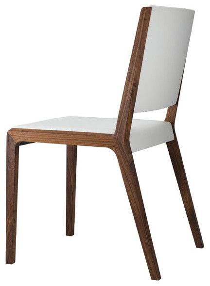 Modern wood dining chairs wood dining chairs pinterest for Contemporary designer dining chairs