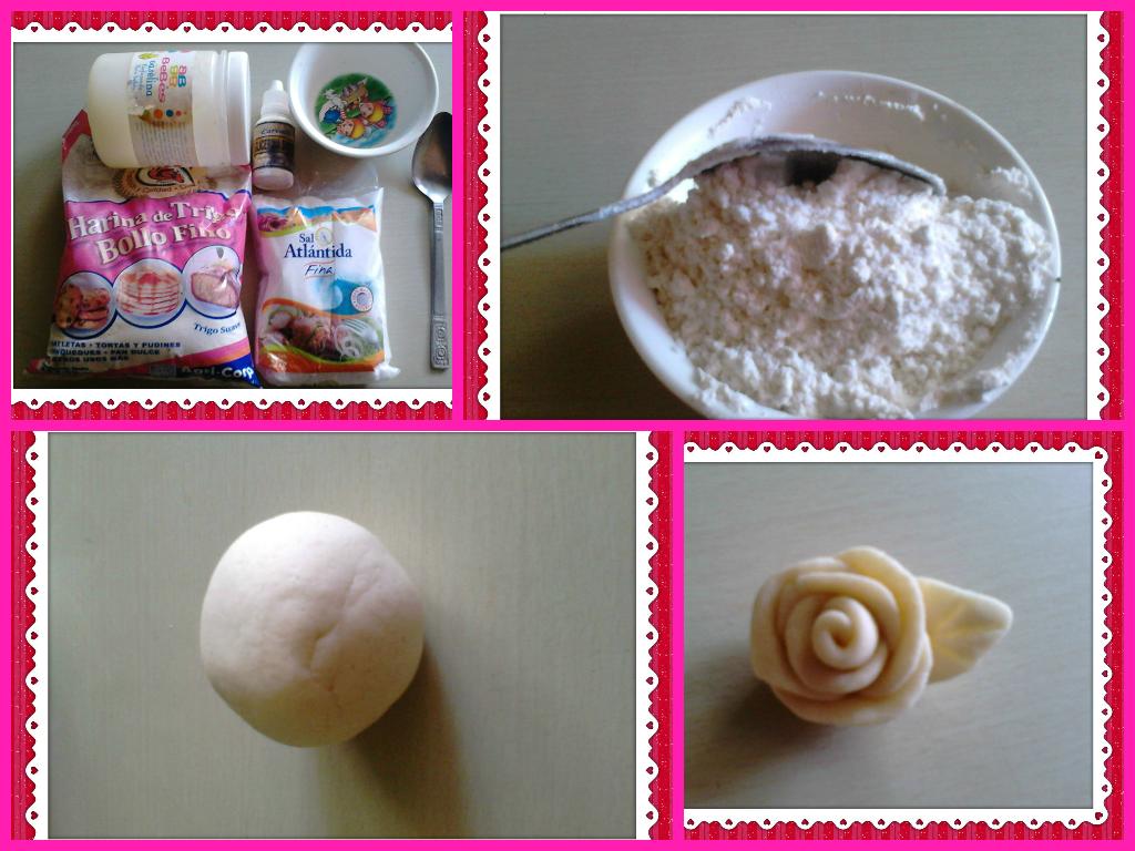 Paso a paso receta para hacer pasta de sal manualidades - Pasta de fimo ...