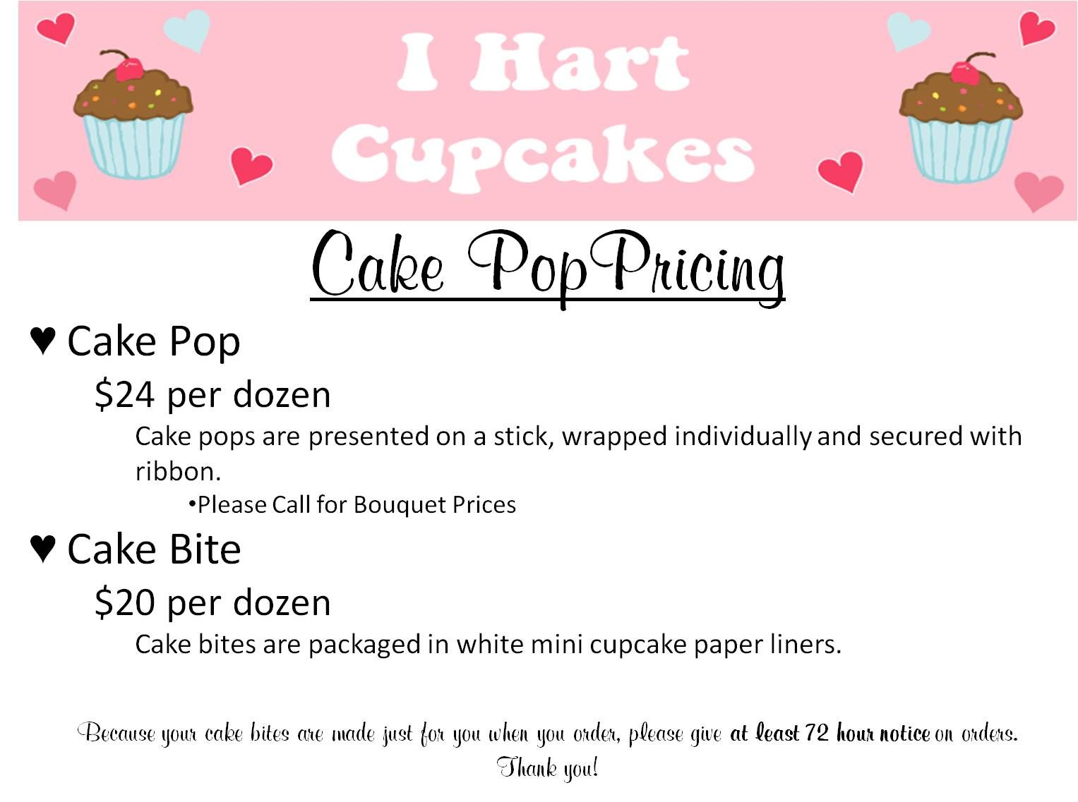 Image Detail For Cake Pop Pricing