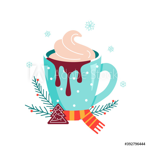 Christmas Hot Chocolate With Cookie And Candy Buy This Stock Vector And Explore Similar Vectors At Adobe Stoc In 2020 Christmas Hot Chocolate Hot Chocolate Chocolate