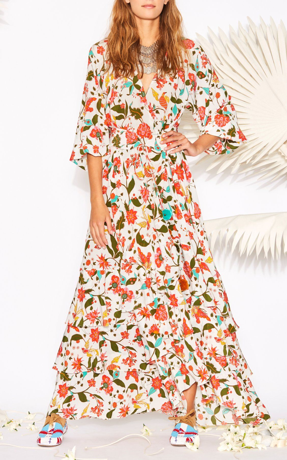 14a0c9ea828 Frederica Floral Wrap Silk Maxi Dress by Figue Spring Summer 2018 ...