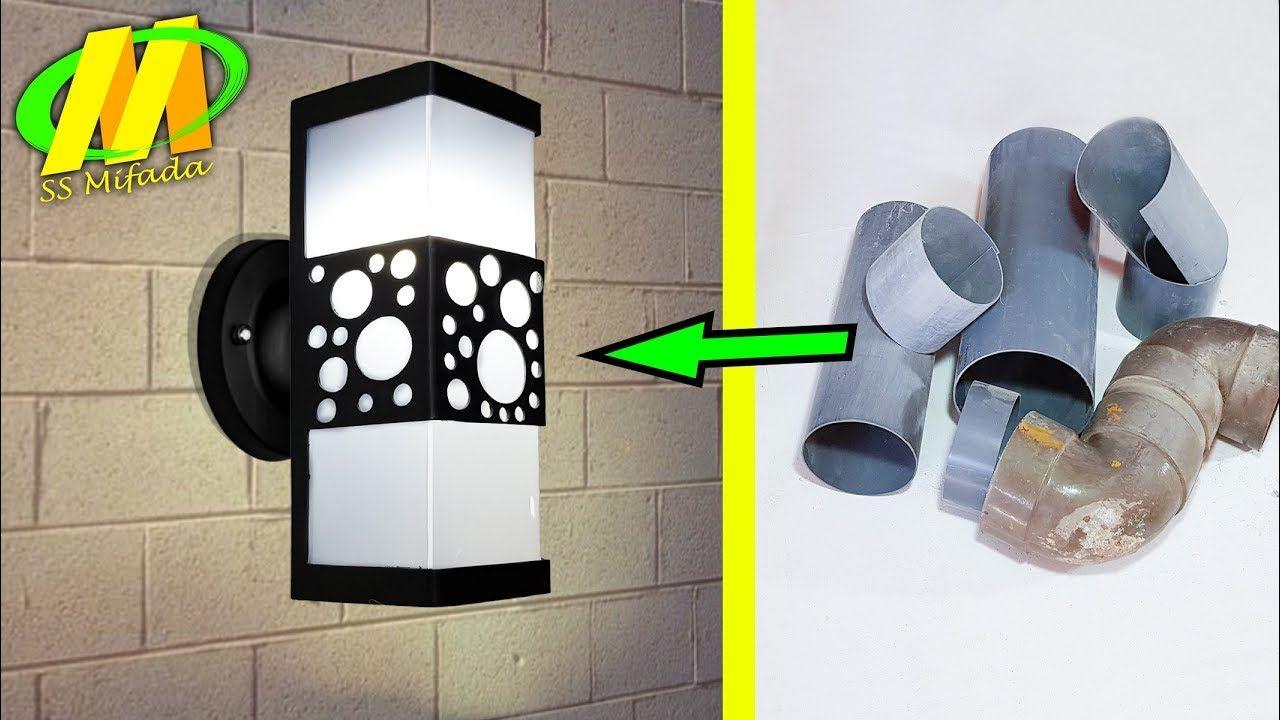 Usaha Menjanjikan Lampu Dinding Dari Pvc Youtube Di 2020 Lampu Dinding Lampu Desain Lampu