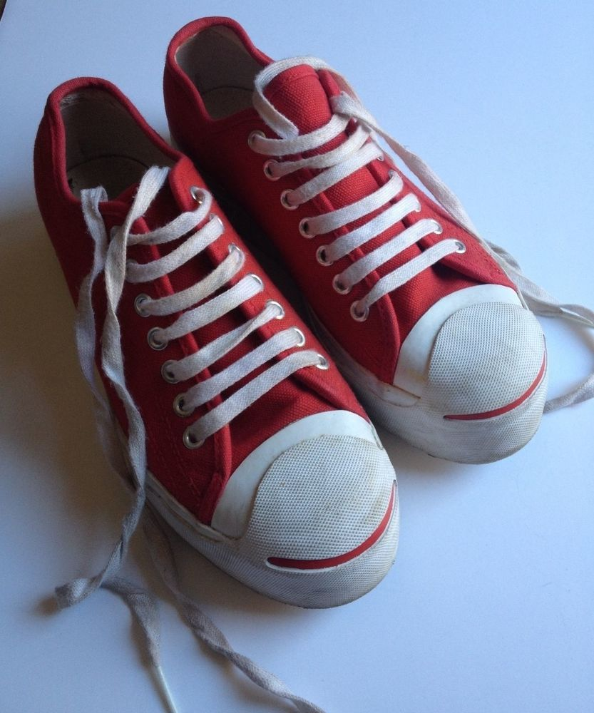 size 9 CONVERSE shoes RED thick platform vintage jack purcell sneakers Rare  Find  JackPurcell  FashionSneakers 65598ab23