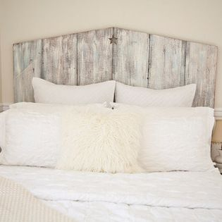 The Queen Tricia Reclaimed Barnwood Headboard By The Lake Nest I
