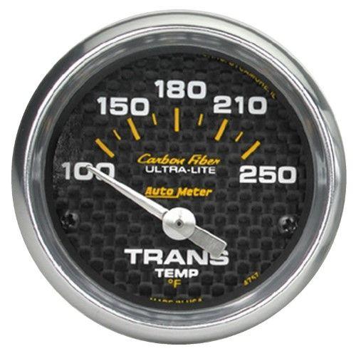 autometer 4757 carbon fiber electric transmission temperature gauge