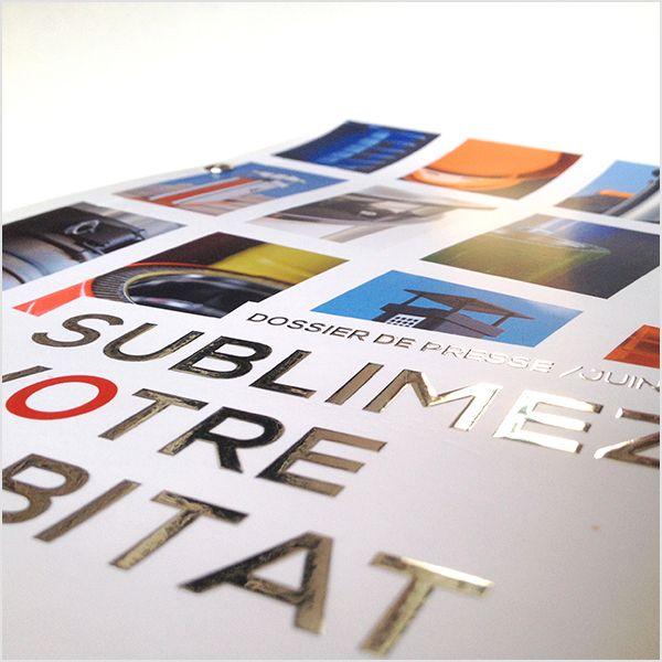 Design Graphique Couverture Dossier De Presse œillets