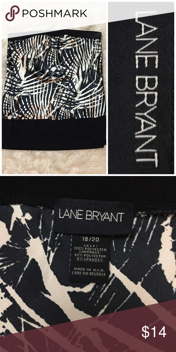 "Lane Bryant Black & Cream Stretch Tube Top Lane Bryant Black & Cream Stretch Tube Top. Size 18-29. Thank you for looking at my listing. Please feel free to comment with any questions (no trades/modeling).  •Fabric: polyester & spandex  •Length:23.5"" •Condition: EUC, no visible flaws.   ✨Bundle and save!✨10% off 2 items, 20% off 3 items & 30% off 5+ items! GA Lane Bryant Tops Blouses"