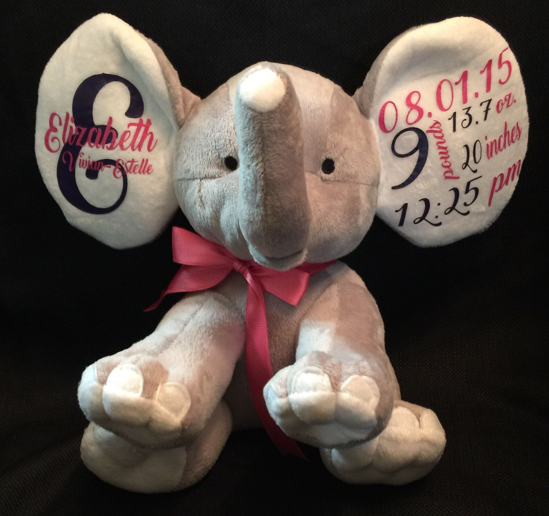 Personalized baby gift personalized elephant baby shower gift personalized baby gift personalized elephant baby shower gift announcement elephant nursery decor negle Gallery
