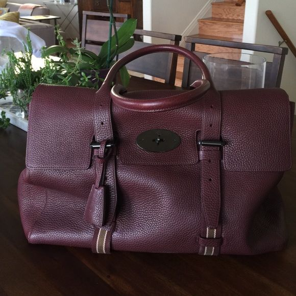 Mulberry Oxblood Oversized Bayswater Tote Barely worn Oxblood colored  Mulberry grain leather oversized Bayswater tote. Pristine condition. No  scratches. a454c75f1a9ac