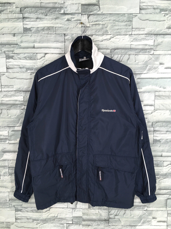 Vintage 90s Reebok Classic Windbreaker Blue Jacket Medium Etsy Reebok Classic White Reebok Blue Jacket [ 3000 x 2250 Pixel ]