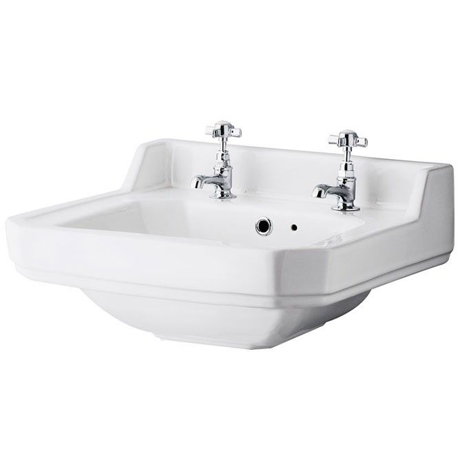 Vitoria Traditional Cloakroom 2 Tap Hole Basin Bathrooms