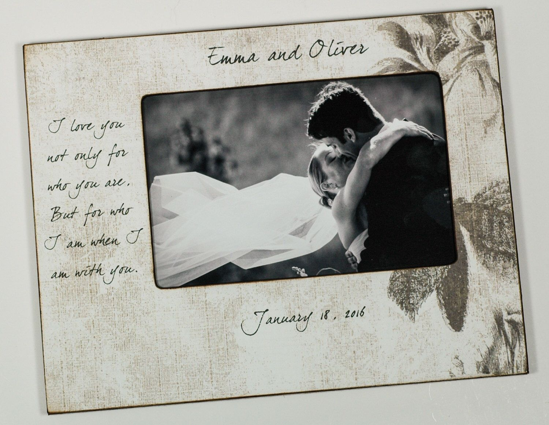 Personalized Couples Frame, Engagement frame, Wedding frame ...